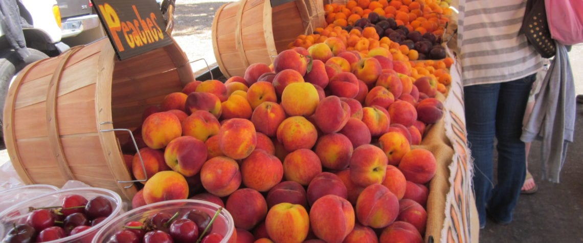Delicious selection at one of the Farmer's fruit stands