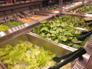 Salad Bar With Endless Choices!