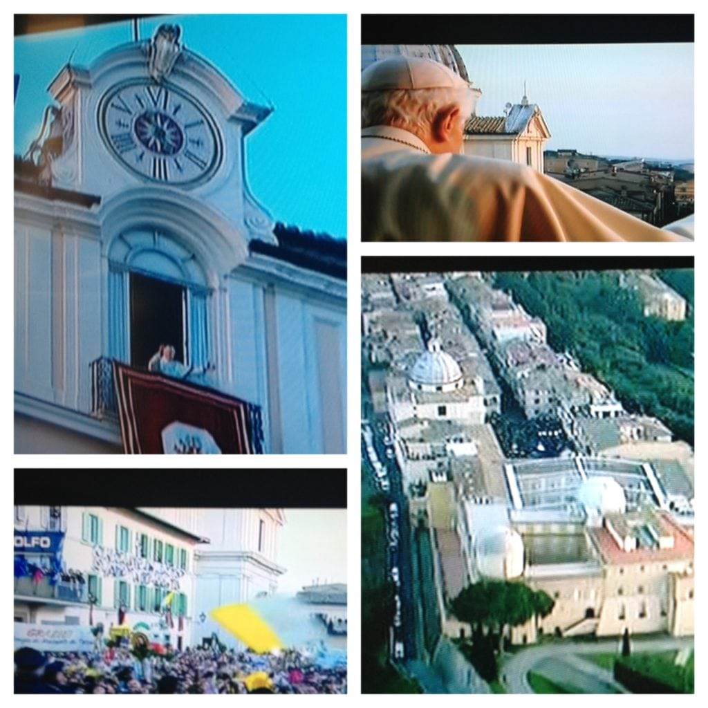 Pope photos using pic stich app