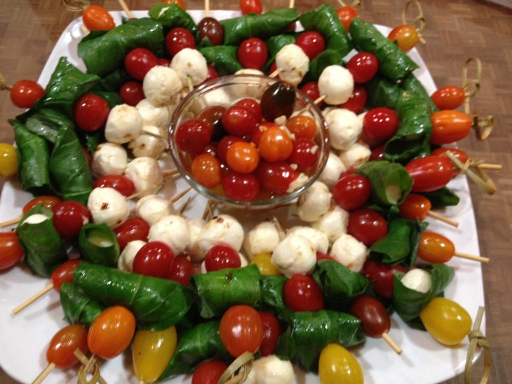 Chris Henry Appetizer Motz. Tomatoes