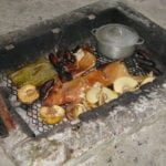 Lunch Roasted in Pit