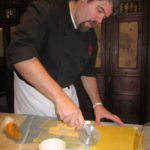 Chef Cutting Pasta Sheets