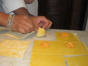 Shaping the Pasta