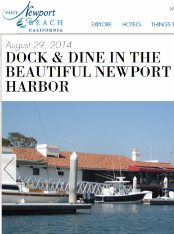 Dock & Dine In The Beautiful Newport Harbor