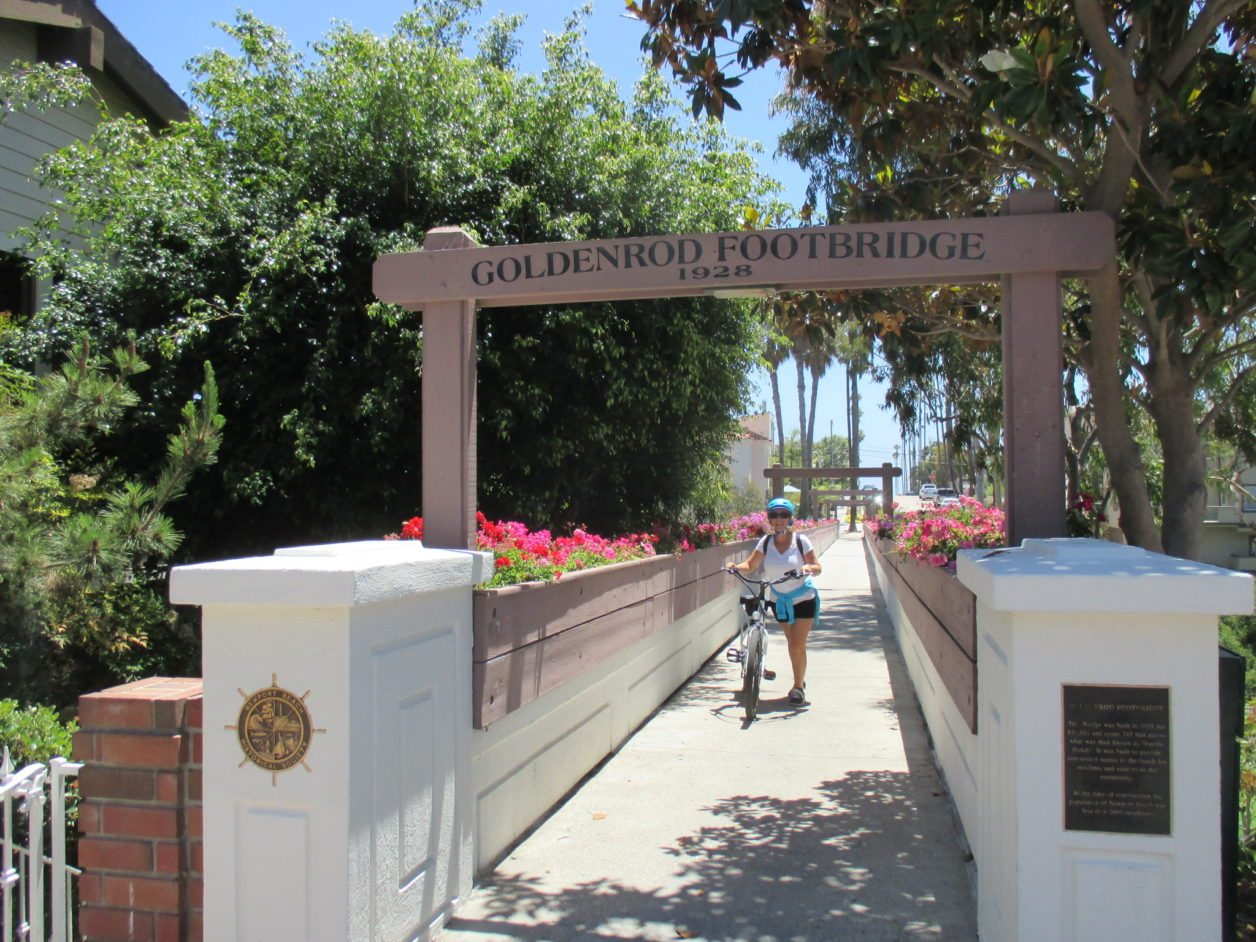 Exploring on a pedego electric bike crystal cove for Cafe jardin newport beach