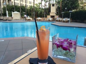 Pink Drink by Pool