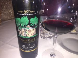 Delicious Zin from Frank Family Vineyards in Napa