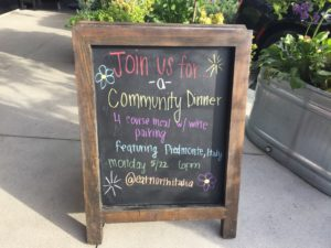 Announcing Wine Dinners