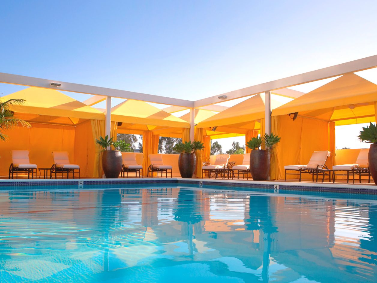 right in our own backyard u2026shimmering hotel pools and patios in